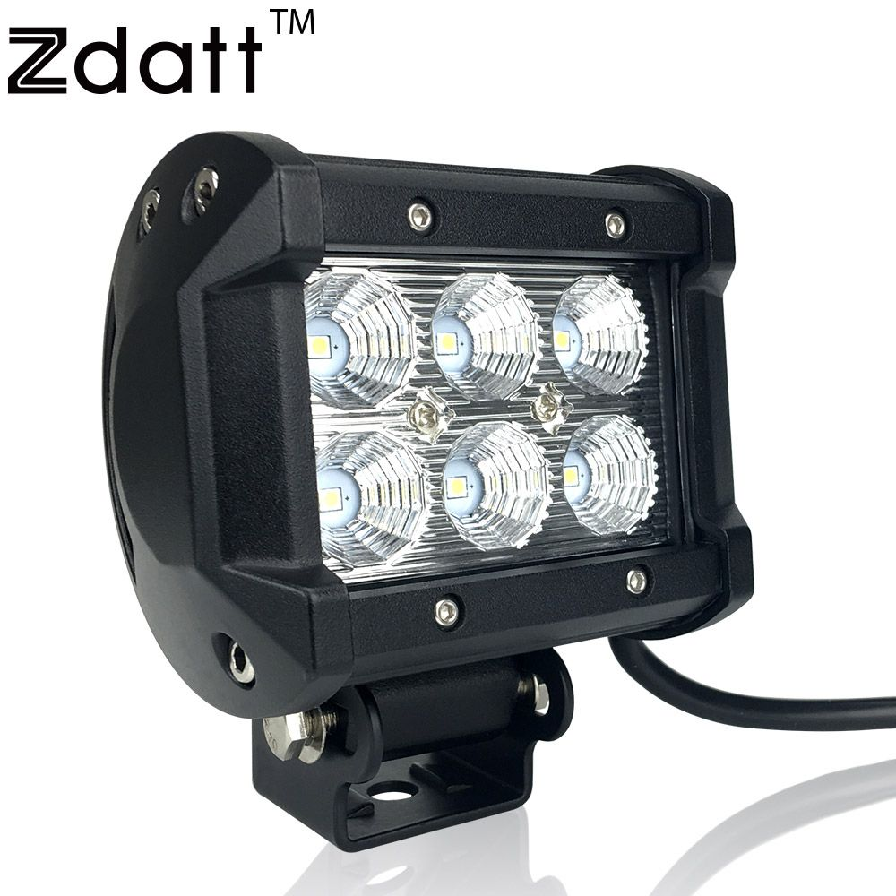 1pc car led work light offroad lights 18w 6500k waterproof vehicle 1pc car led work light offroad lights 18w 6500k waterproof vehicle led flood spot lamp sportlight aloadofball Image collections