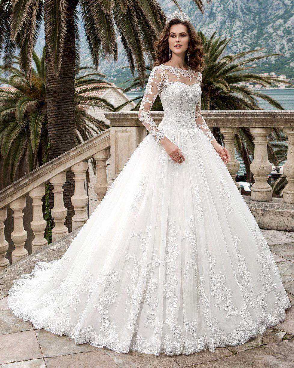 Vestido De Noiva Bridal Dress Sexy Vintage Rustic Long Sleeve ...