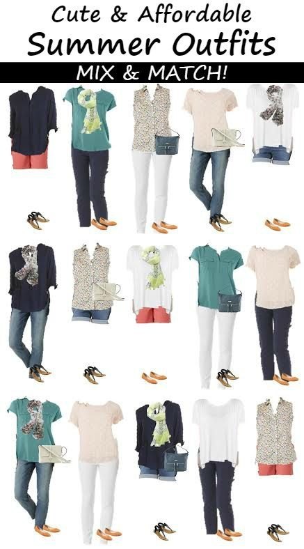how to put together a cute outfit for summer