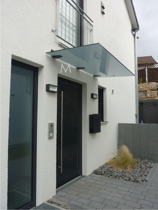 Eindeckung In Grey Matt Glasvordach Hausturvordach Vordach