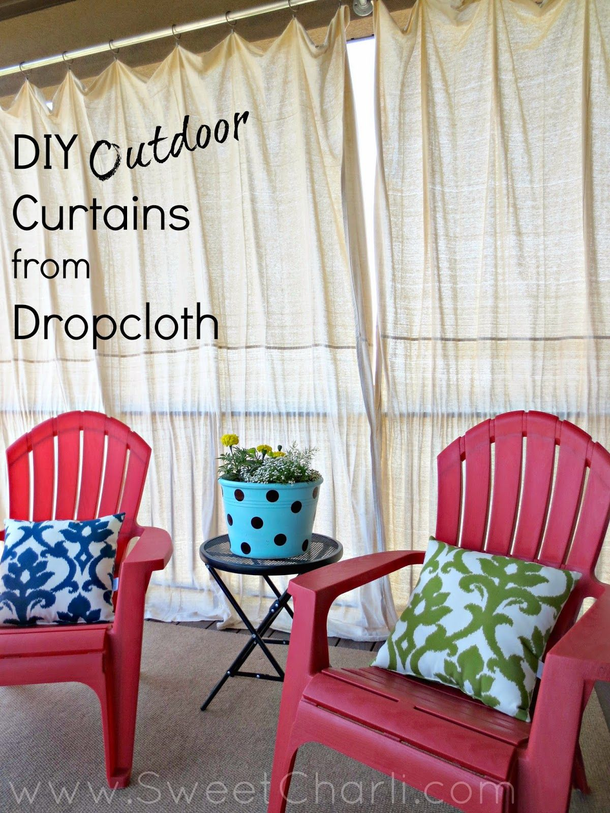 Sweet Charli DIY Outdoor Curtains From Dropcloth