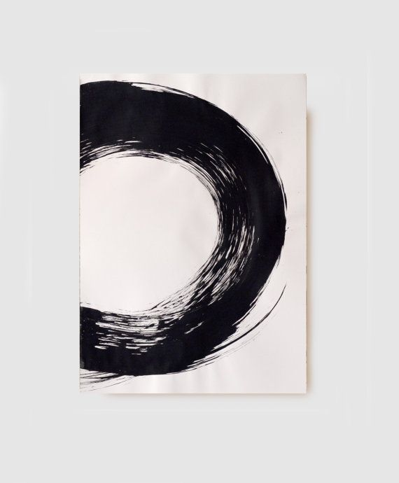 Large Sizea0original Abstract Art Drawingblack And By Comart