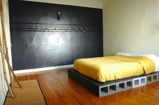 How To Build A Platform Bed With Cinder Blocks And No Tools