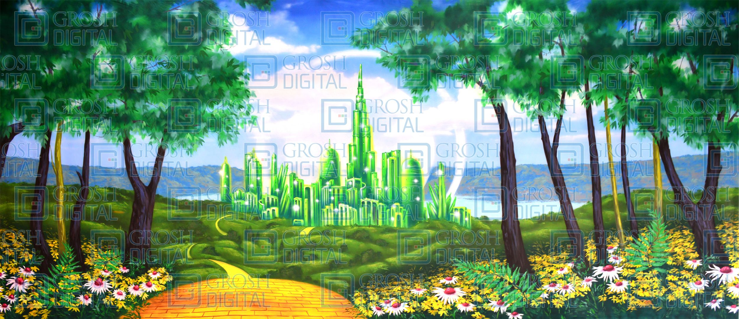 Oz Emerald City Painted Backdrops Backdrops City Landscape