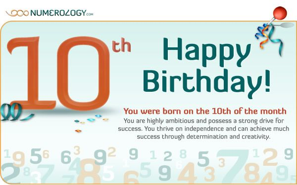 numerology based on day of birth 10 december