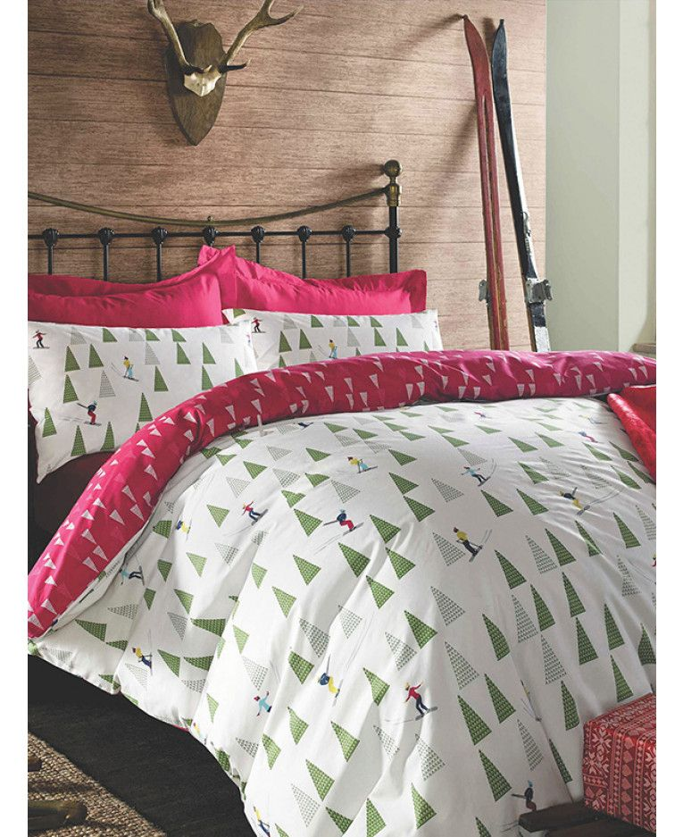 This Ski Season Christmas Single Duvet Cover Set Will Add A Festive Finishing Touch To Any
