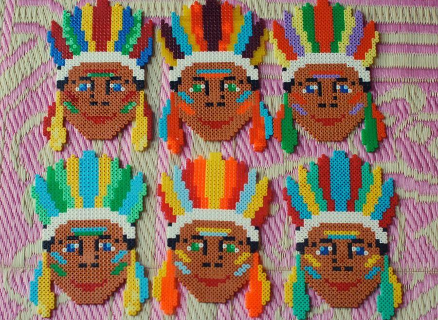 Lullaby & La La: Hama indianer invitationer | HAMA BEADS | Pinterest ...