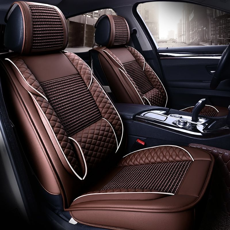 Summer Vent Leather Seat Covers For Toyota Highlander Previa Yaris Levin Alphard Zelas Sequoia Sienna Tundra