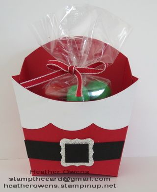 Santa Treat Box using the Big Shot and Fry Box die from Stampin' Up!