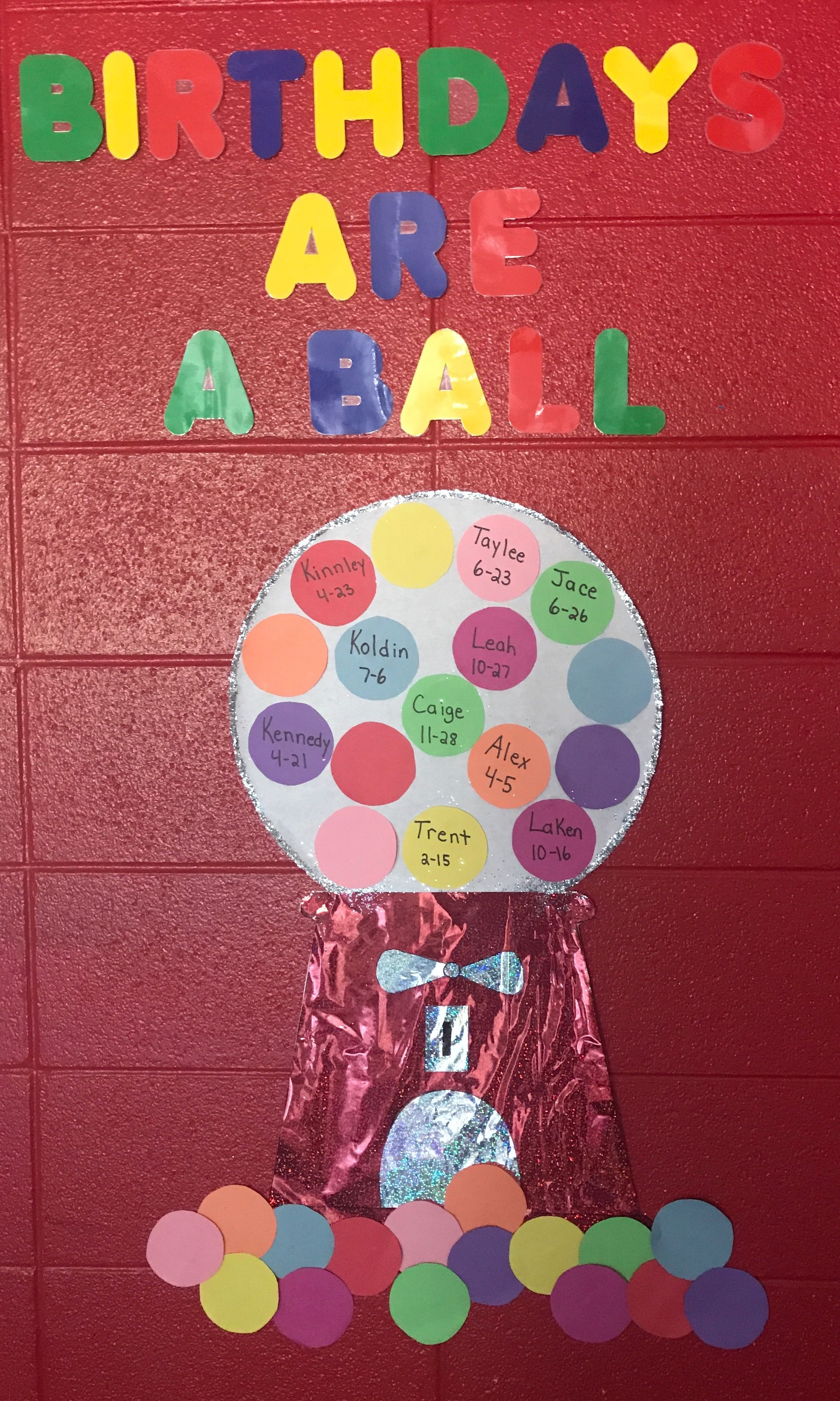 Gumball Birthday Bulletin Board