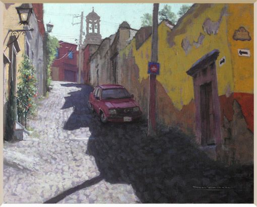 """Montes de Ocar"" oil by San Miguel artist Tom Dickson"