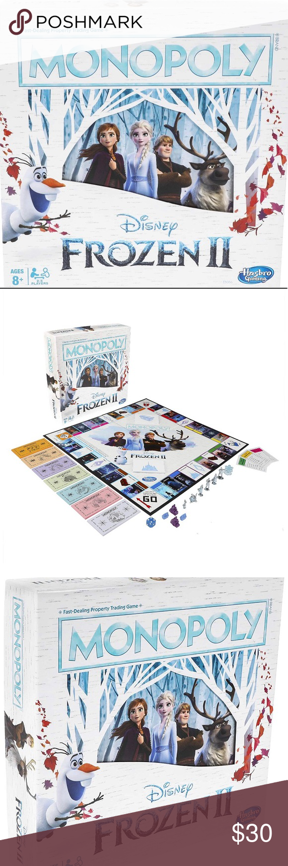 ️Monopoly Game☃️ Disney Frozen 2 Edition NWT in 2020