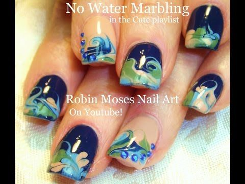 Best Water Marble Nail Art Tutorial Youtube Image Collection