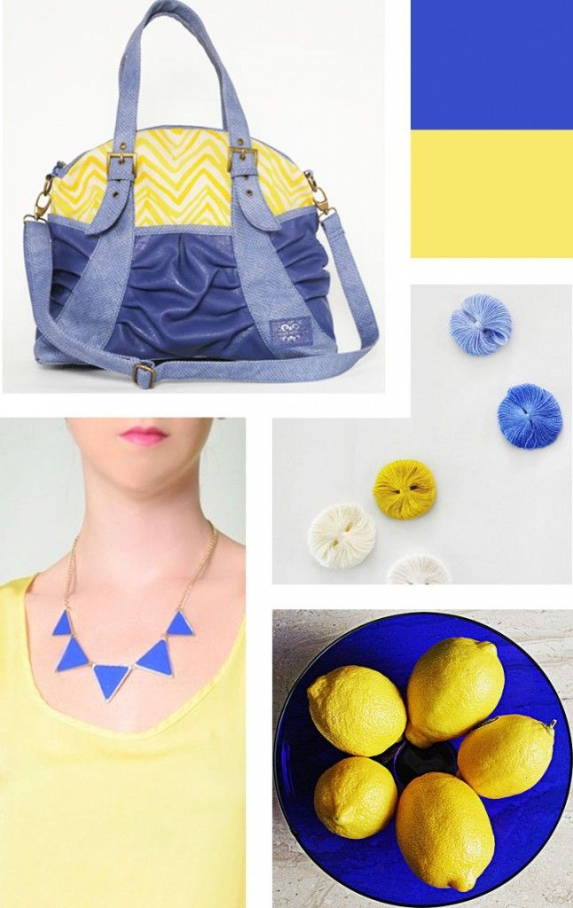 For Love of Color - Cobalt Blues & Soft Yellows