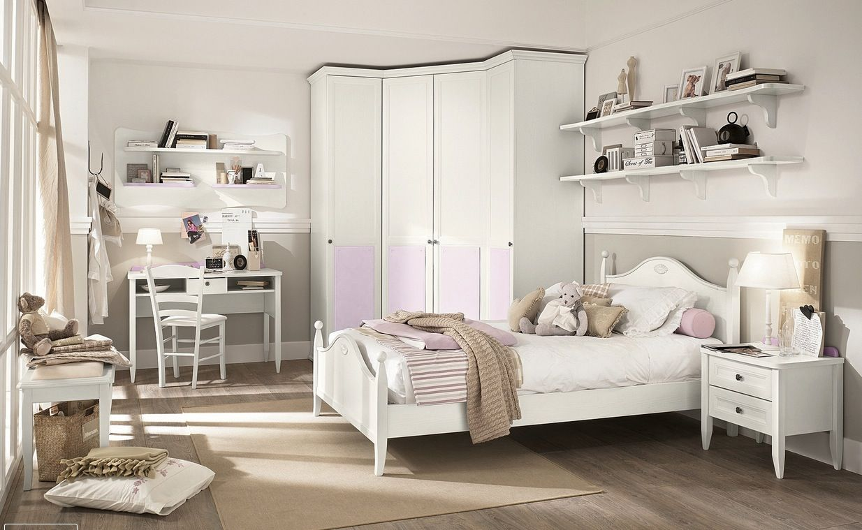 Luxurious White Style Kid's Bedroom Design with Wooden Floor and Unique  Kid's Cabinet Style also Small Corner Study Space Design for The Best Modern  Kid's ...