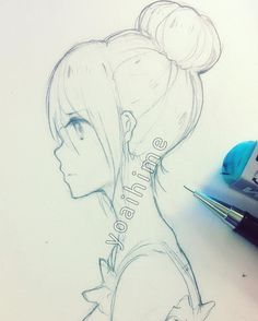 Image Result For Yoaihime Side Face Anime Drawings Sketches Anime Drawings Anime Sketch