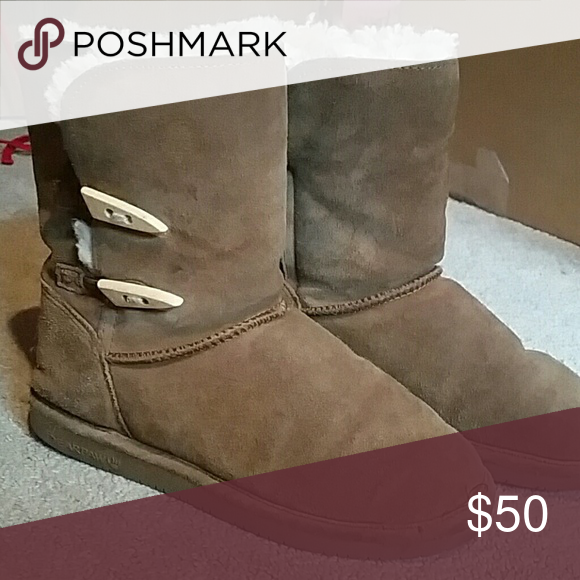 Bearpaw ugg boots Very fuzzy on the inside, perfect for those cold fall or winter days! Bearpaw  Shoes Winter & Rain Boots