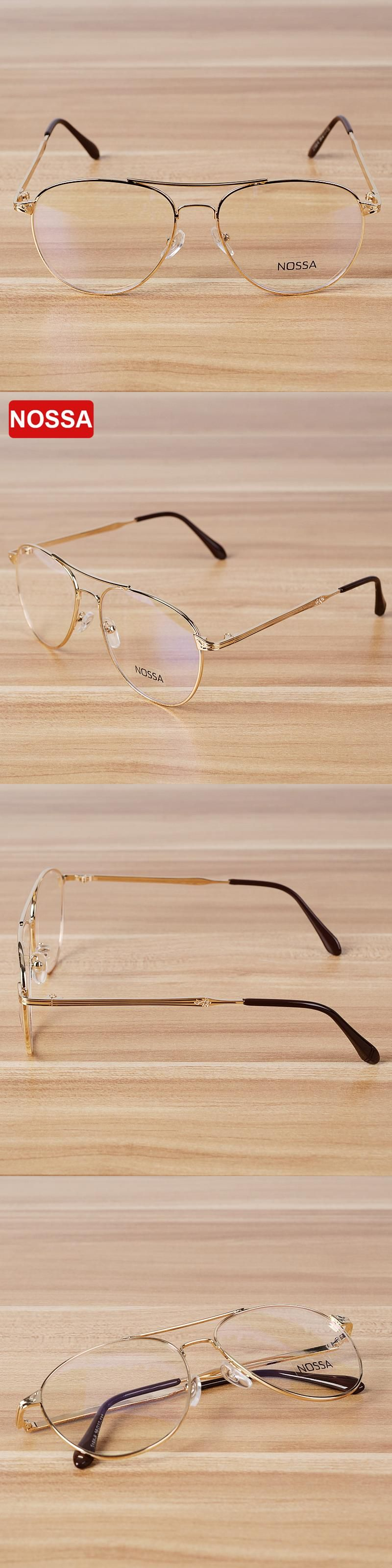 b68997a1190 NOSSA Brand Quality Metal Glasses Frame Myopia Alloy Glasses Frames Men  Women s Eyeglasses Spectacle Frame Big