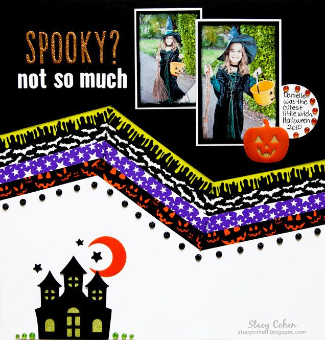 Layout: New Halloween Themed Bling Book and Trendy Tape Boxed Set from Queen and Company