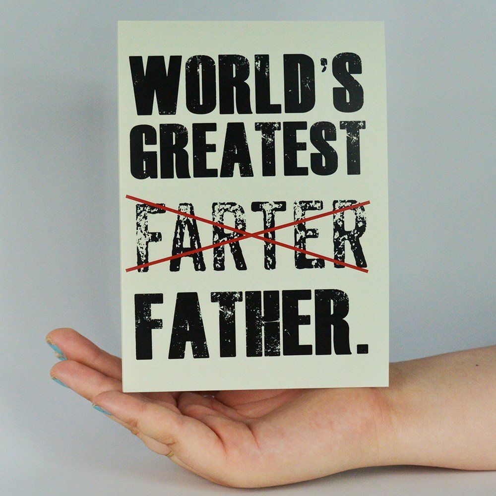 World Greatest Farter Funny Fathers Day Greeting Card Greeting