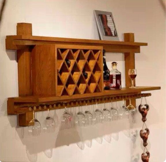 Pin de en pinterest estantes for Estantes para vinos