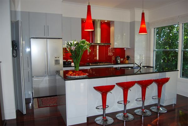 Color Scheme Idea 20 Red Black And White Kitchen Designs Home Design Lover Red And White Kitchen Black Kitchen Decor Red Kitchen Decor