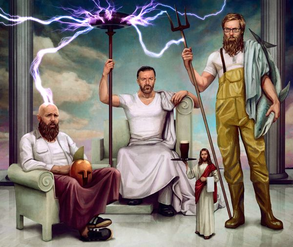 Gervais, Merchant, Pilkington by Ástor Alexander, via Behance