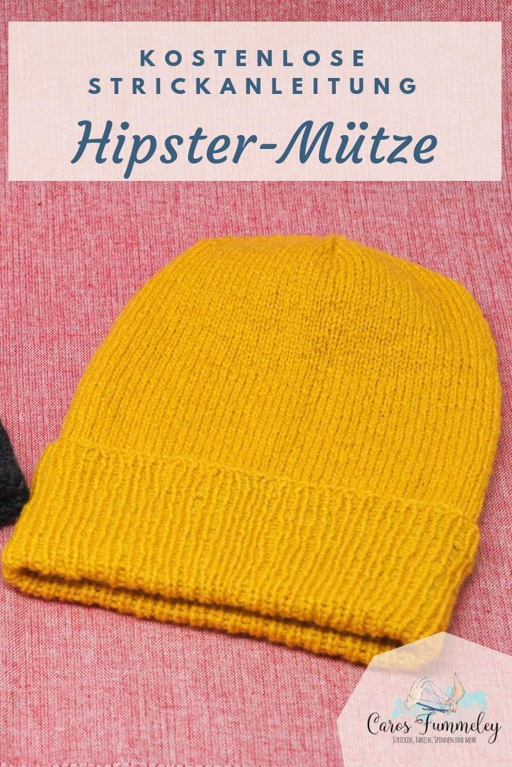 Hipster-Beanie stricken - Kostenlose Anleitung im Snaply Magazin #beanies