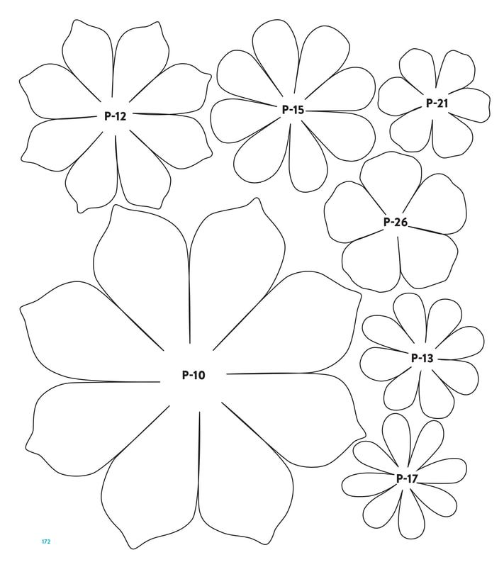 Picture Paper Flower Template Paper Flower Patterns Flower Template