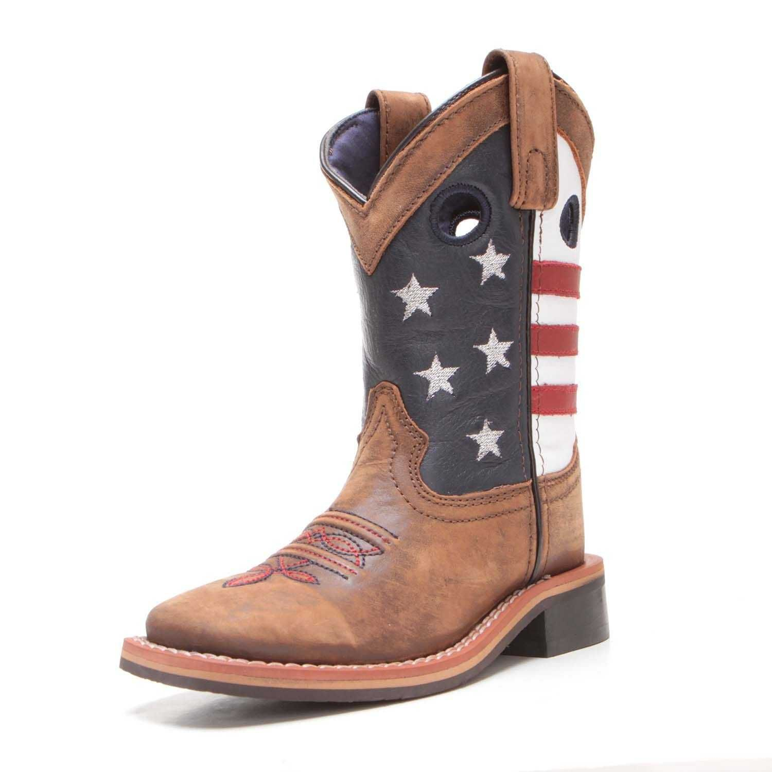 Cowboys And Cowgirls Alike Will Love To Stand Tall In The Smoky Mountain Children S Stars Stripes Cowboy Boots Kids Cowboy Boots Boots Leather Cowgirl Boots
