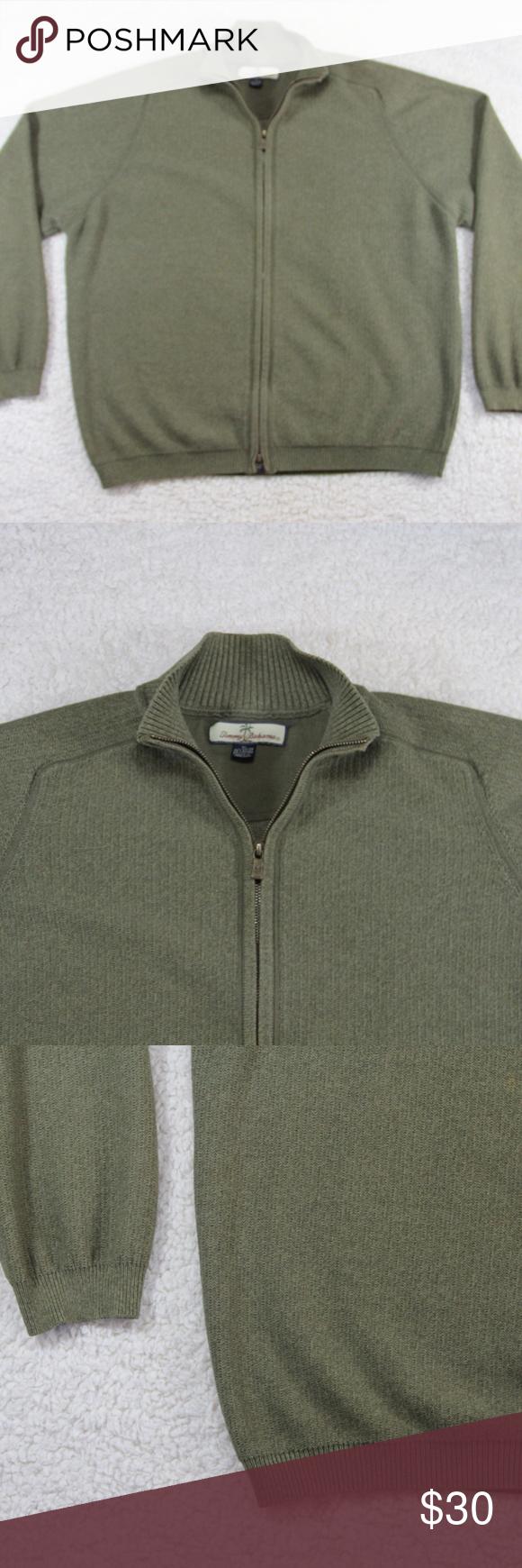 Tommy Bahama Olive Green Zip Sweatshirt Men S Xl Mens Sweatshirts Sweatshirts Tommy Bahama Shirts [ 1740 x 580 Pixel ]