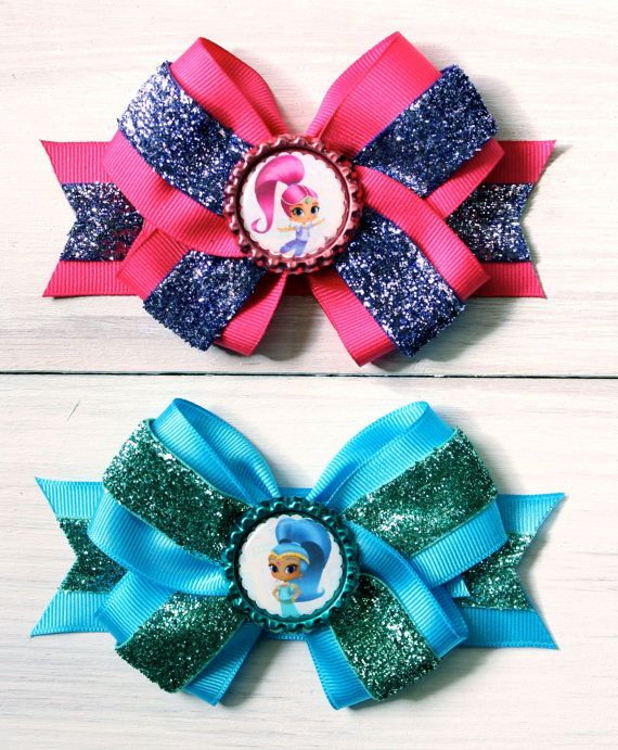 Shimmer And Shine Hair Bows Set Shimmer And By