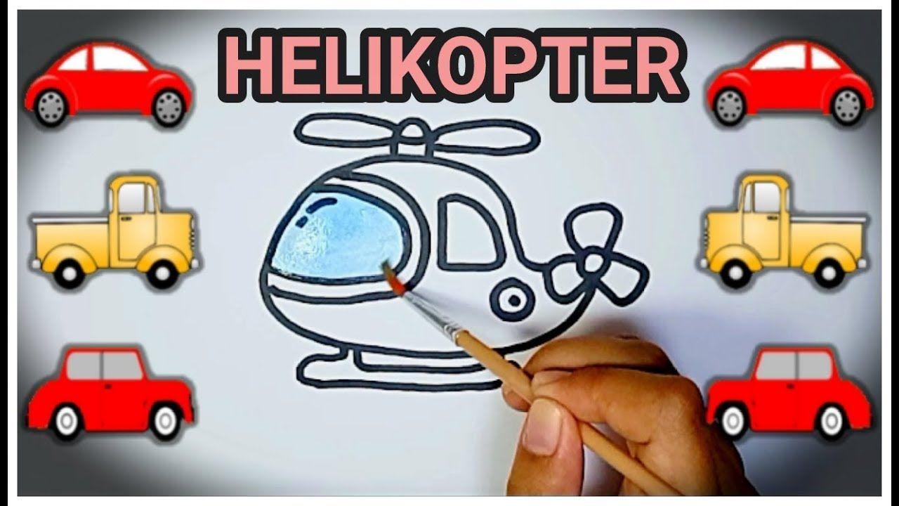 Mewarnai Helikopter Dan Cara Menggambarnya Dengan Sangat Mudah
