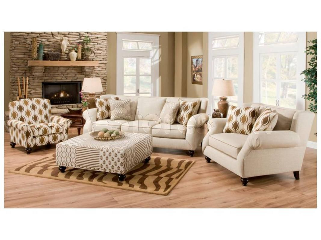 Hazel Simply Linen 4 Pc Sofa Set Sofa Chair Accent