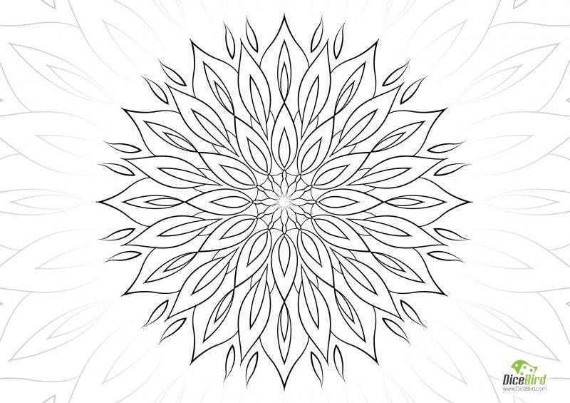 Bee flower | Mosaico | Mandalas, Mosaicos y Garabatos