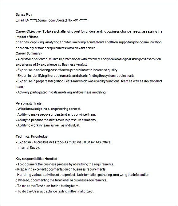 business analyst resume sample 1 entry level business analyst