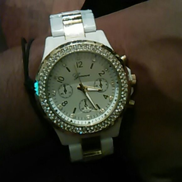 Watch This beauty has faux diamond details around the dial. Geneva  Accessories Watches