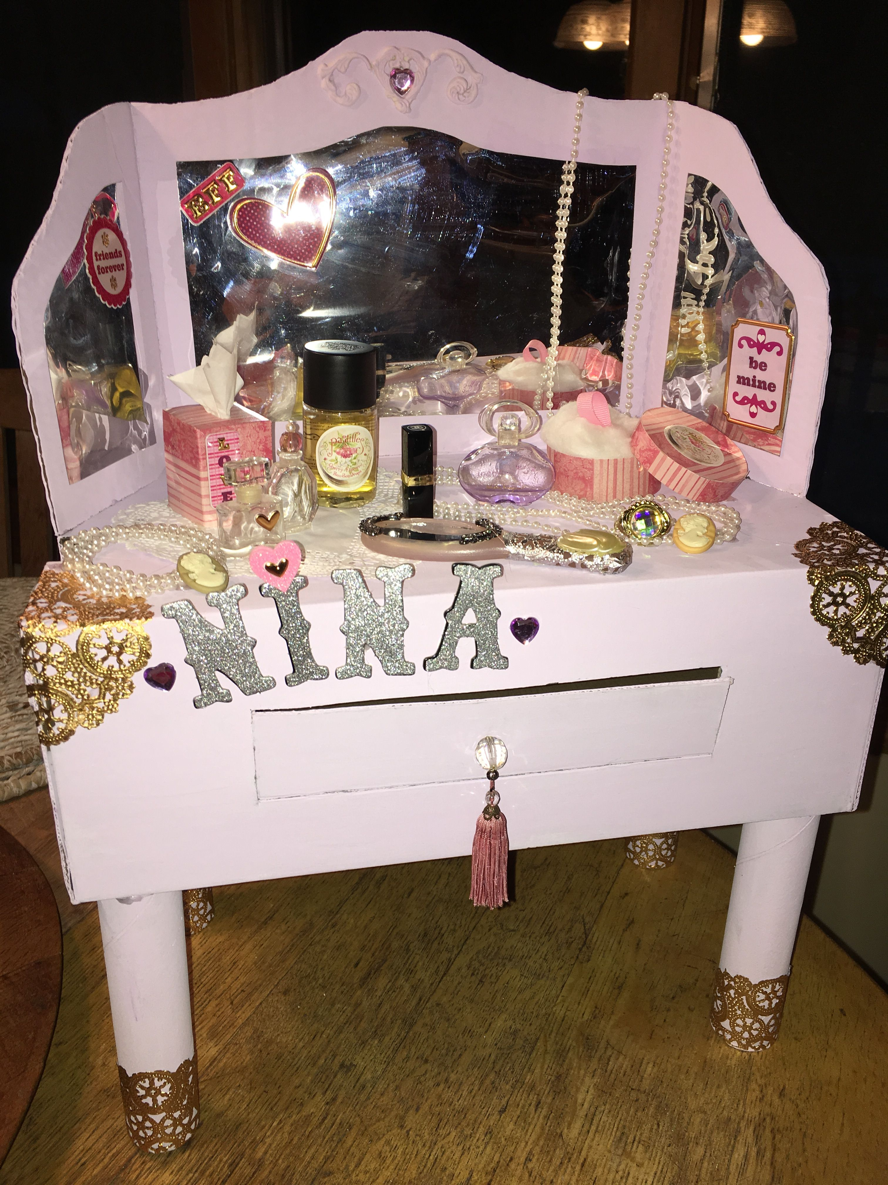Valentine's Day box makeup vanity Valentine day boxes
