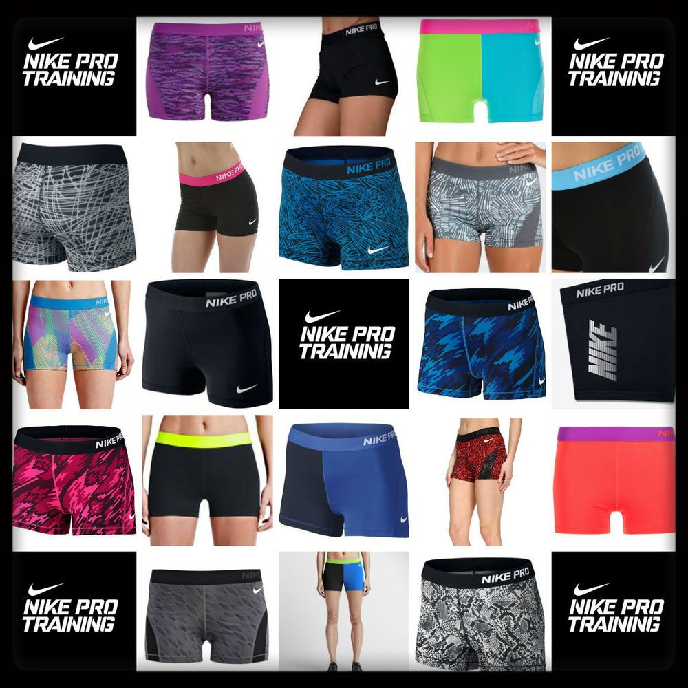Women S Nike Pro Dri Fit 3 Spandex Compression Shorts Xs Xl Free Shipping Nwt Nike Pros Compression Shorts Nike Women