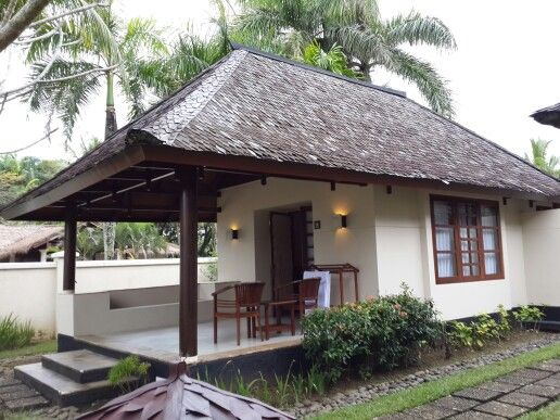 Pin By Pradit On Villa Resort Village House Design Beach House Design Thatched House