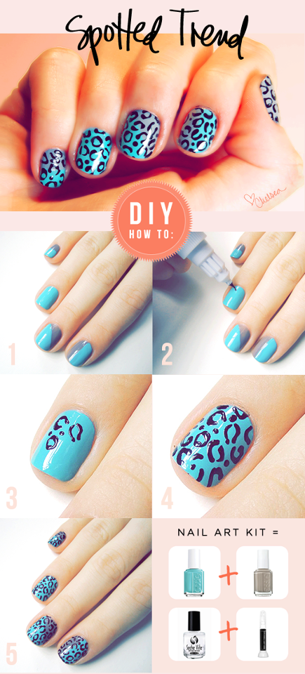 How to do nail art spots step by step DIY instructions | Nail Art ...