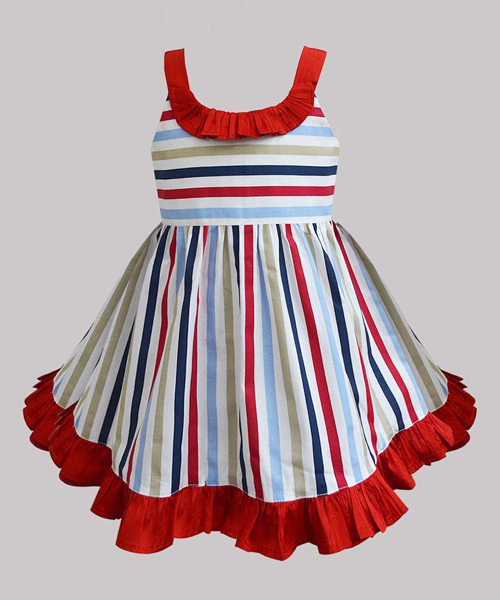 2c8f8e726d A.T.U.N. Red   White Stripe Julie A-Line Dress - Infant
