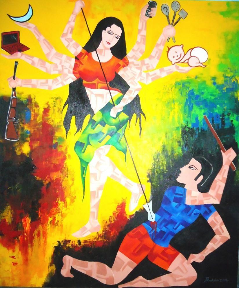 Jai Nari-shakti Ki. Creative Painting Deeksha Bhardwaj In