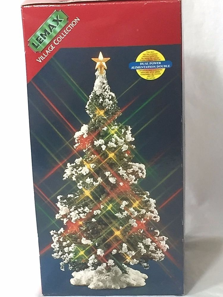 Lighted Christmas Tree Lemax Christmas Village 6 Snow Tipped Pine Dual Power Christmas Village Display Lemax Christmas Village Christmas Tree Decorations