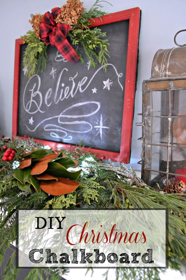 DIY Christmas Chalkboard Sign Christmas decoration ideas