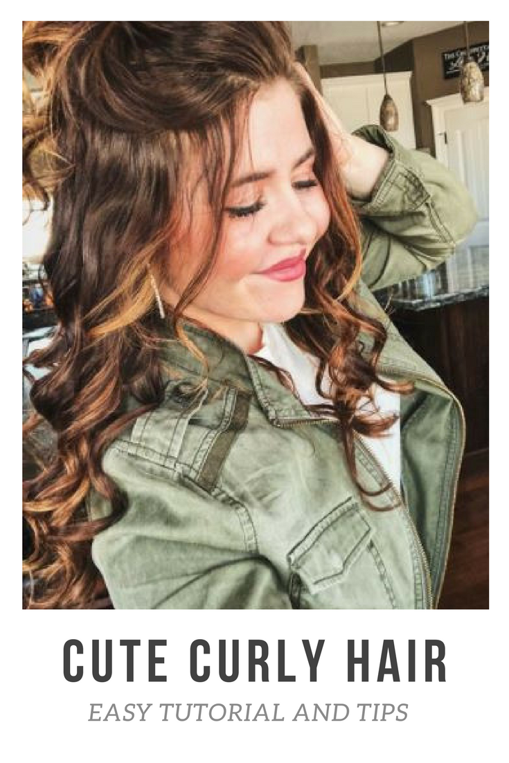 Cute and easy curls tips tutorial and must have products curls