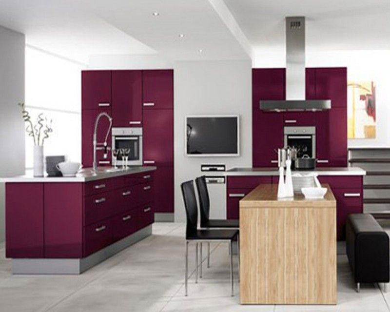 Kitchen Enchanting Dark Purple And White Color Combination For Modern Kitchen With Wood Kitchen Inspiration Design Modern Kitchen Design Kitchen Design Color