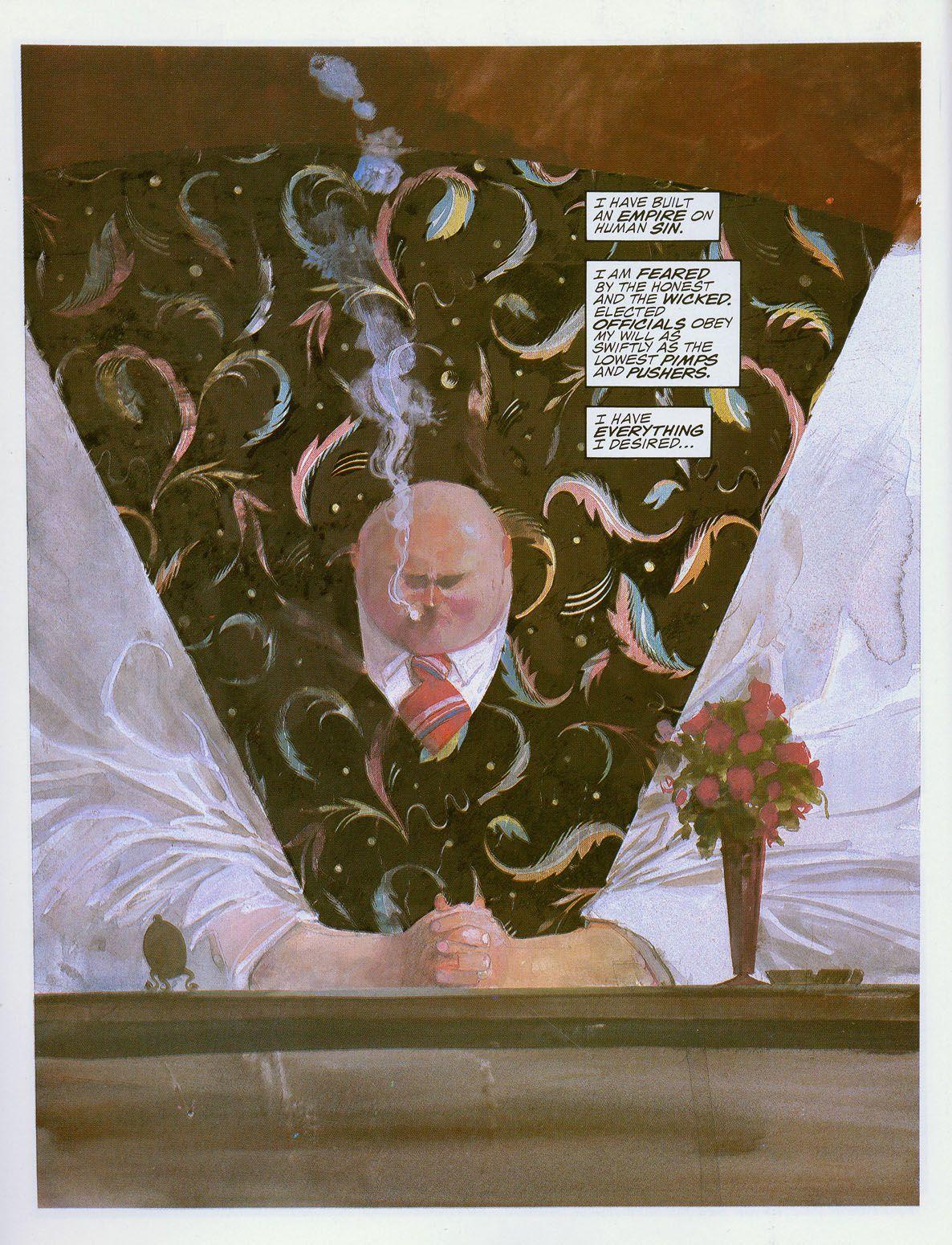 The Kingpin, from DAREDEVIL: LOVE & WAR. Art by Bill Sienkiewicz ...