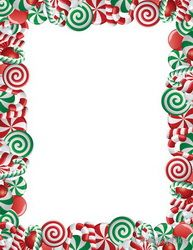 Peppermint Christmas Letterhead Glitter X Pk