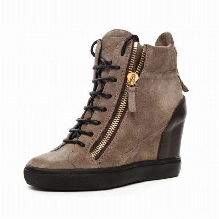 Giuseppe Zanotti Suede Wedge Sneakers buy cheap Cheapest fashionable sale online oGLF0MFe8E